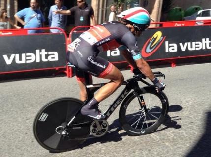 Cancellara castiga etapa contratimp de la Tarazona. Nibali din nou in rosu
