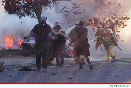 Accidentul lui Paul Walker, imagine dramatica