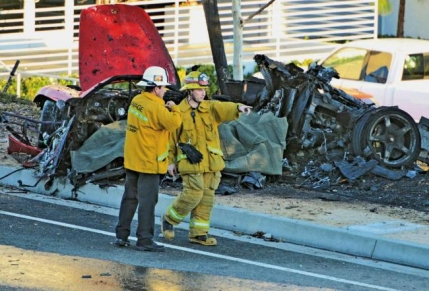 Accidentul lui Paul Walker: Masina rula cu 160km/h