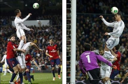 Saritura incredibila a lui Ronaldo