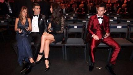 FOTO Ronaldo i-a suflat iubita lui Messi dupa Balonul de Aur