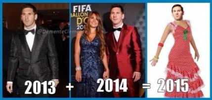 Gluma Balonului de Aur: Costumul lui Messi din 2015