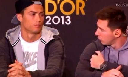 Cel mai amuzant moment de la Balonul de Aur intre Ronaldo si Messi (video)