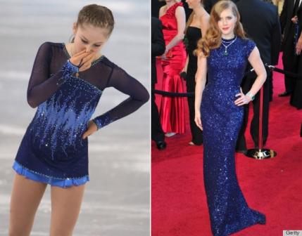 Stelele patinajului artistic poarta rochii de mini-Oscar