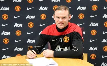 Rooney a semnat cu United pana in 2019