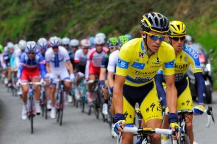 Contador ramane in galben dupa etapa regina a Turului Tarii Bascilor