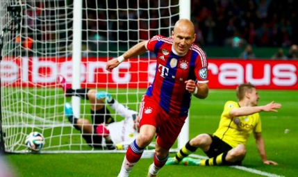 Bayern Munchen face eventul dupa ce a cucerit Cupa Germaniei