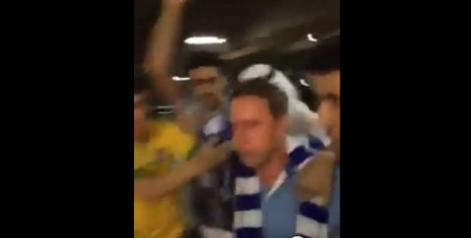 Reghecampf, fugarit in aeroport de arabi (video)