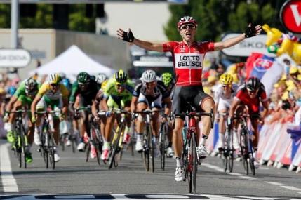 Tony Gallopin castiga etapa a 11-a din Turul Frantei. Nibali ramane in galben
