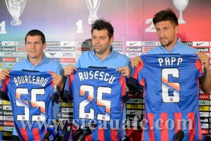 Steaua i-a prezentat pe Bourceanu, Rusescu si Papp