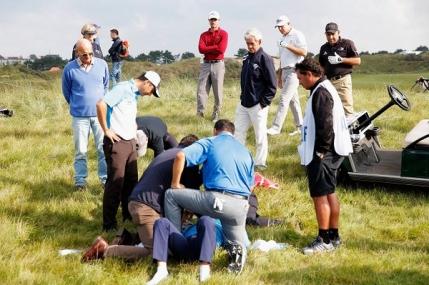 Accident mai putin intalnit in golf. Un paraguayan la un pas de tragedie