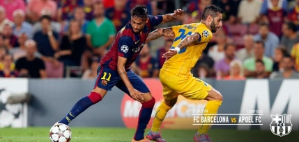 Barcelona, victorie scurta cu APOEL Nicosia