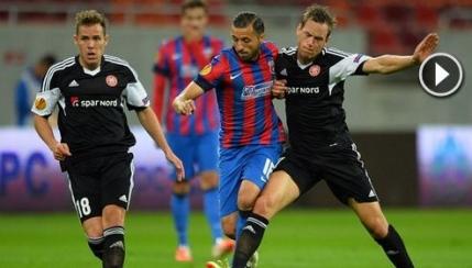 Cele sase goluri din Steaua - Aalborg (video)