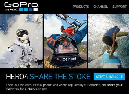 GoPro pune la bataie 50 de camere ultimul tip, Hero 4. Romanii pot participa
