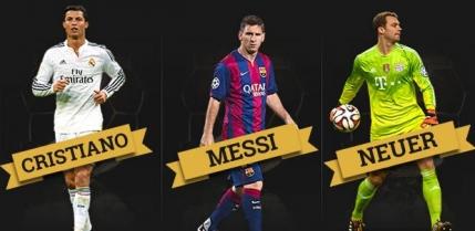 Balonul de Aur 2014: Messi, Ronaldo si Neuer finalisti