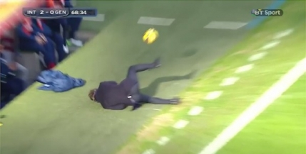 Roberto Mancini facut KO de unul dintre jucatorii sai (Video)