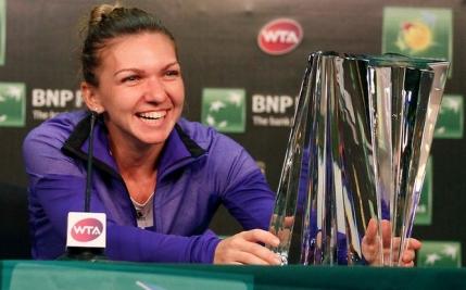Simona Halep s-a enervat pe antrenor in timpul finalei de la Indian Wells: Asta vrei tu sa fac eu? Misto...