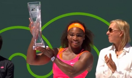 Serena Williams a demolat-o pe Carla Suarez Navarro in finala de la Miami