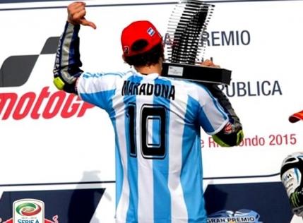 Valentino Rossi i-a dedicat lui Maradona victoria din Argentina