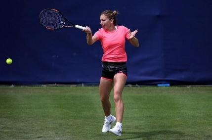 Simona Halep, victorie concludenta in primul meci pe iarba din 2015