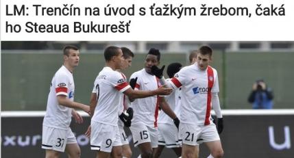 Presa slovaca, despre meciul cu Steaua: