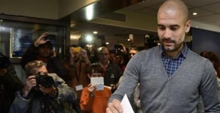 Pep Guardiola intra in politica