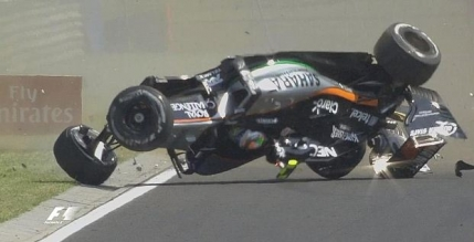 F1: Accident incredibil suferit de Perez în Ungaria (video)