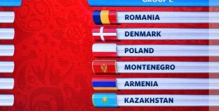 Romania in Grupa E a  preliminariilor Cupei Mondiale 2018. Toate grupele si programul