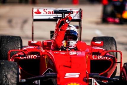 Vettel vrea titlul mondial cu Ferrari