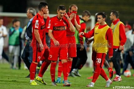 Prima infrangere a lui Dinamo intr-un meci cu trei eliminati