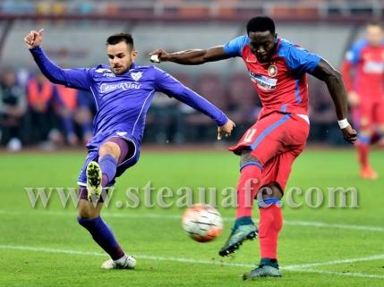 Steaua salveaza remiza pe final cu Pandurii