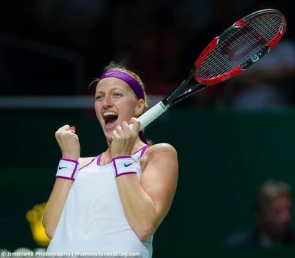 Petra Kvitova o elimina pe Maria Sharapova in semifinale la Turneul Campioanelor