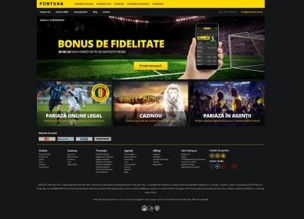 Fortuna si-a lansat platforma de pariuri on-line