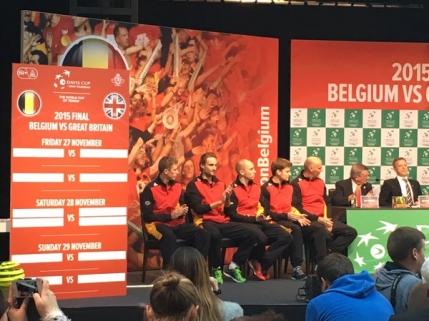 Programul finalei Cupei Davis dintre Belgia si Marea Britanie