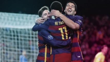FC Barcelona purtata pe val de cei trei magnifici: Messi, Neymar si Suarez