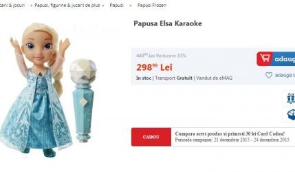 Carrefour vs. Emag vs. Diverta vs. Amazon: Cine a avut cel mai mic pret la cel mai dorit cadou pentru fetite