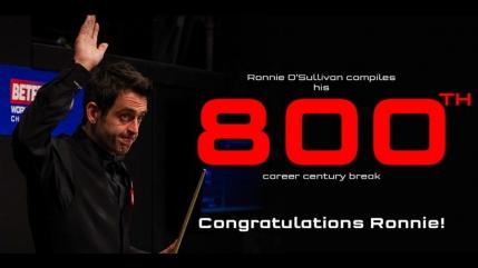 Cifra rotunda pentru Ronnie O'Sullivan: al 800-lea break de peste o suta din cariera!