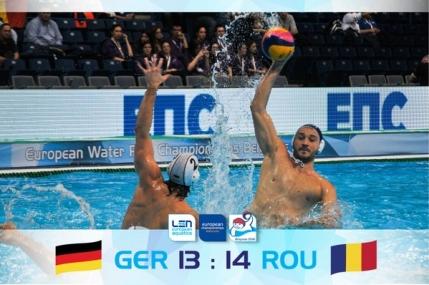 Romania castiga la limita cu Germania la Campionatul European de polo. Calificare in optimi de pe locul doi
