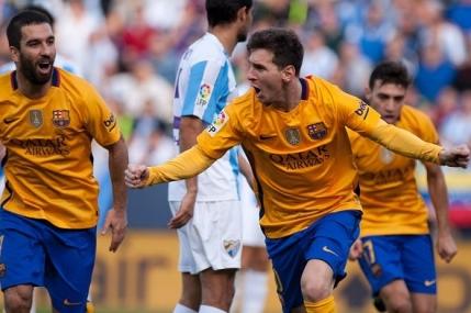 Lionel Messi aduce victoria pentru Barcelona la Malaga