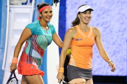 Al treilea titlu major pentru perechea Martina Hingis si Sania Mirza