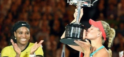 Angelique Kerber castiga la Australian Open in fata unei Serena Williams cu frana de mana trasa