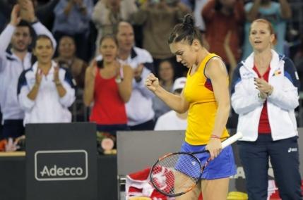 Simona Halep aduce Romania in avantaj contra Cehiei in Fed Cup