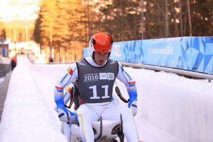 Romania, aproape de medalie in proba de sanie la Jocurile Olimpice de Tineret