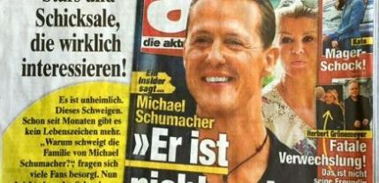 Coperta macabra cu Michael Schumacher
