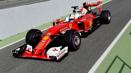 Ferrari isi arata forta in testele de la Barcelona. Vettel din nou in top