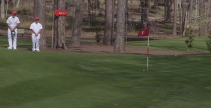 Un pusti de 11 ani reuseste o lovitura fenomenala in fata lui Tiger Woods (video)