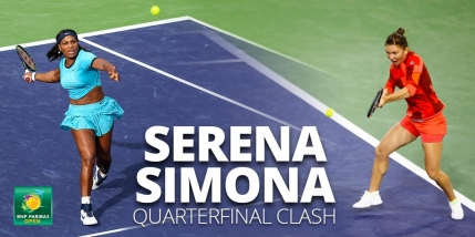 GAME cu GAME Simona Halep - Serena Williams in sferturi la Indian Wells