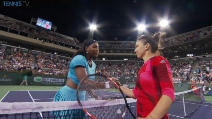 Serena Williams si-a aratat respectul pentru Simona Halep si suporterii romani