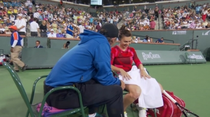 Simona Halep si Darren Cahill au avut momentul lor in timpul meciului cu Serena Williams