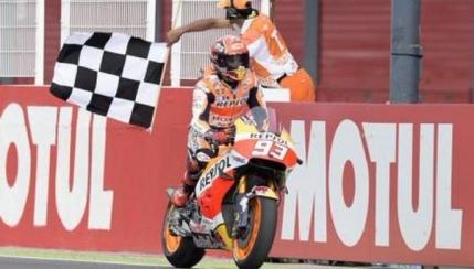 Cursa nebuna la MotoGP in Argentina cu Marquez invingator in fata lui Rossi
